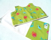 Baby Shower Gift Set Baby Bib Burp Cloth Sealife Fish Theme