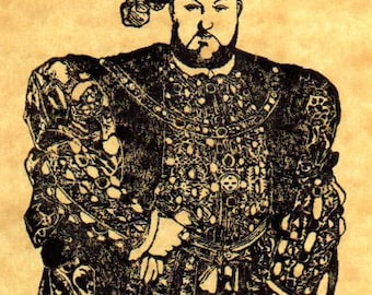 King Henry VIII Rubber Stamp