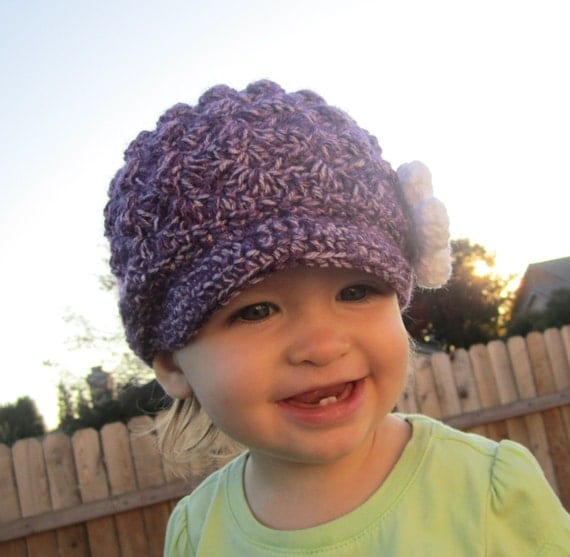 Textured Brimmed Hat - Baby or Toddler Size