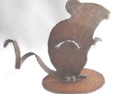 Rusty Mouse Recycled Metal Garden Art