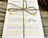 Wedding Invitation: Rustic California Quail