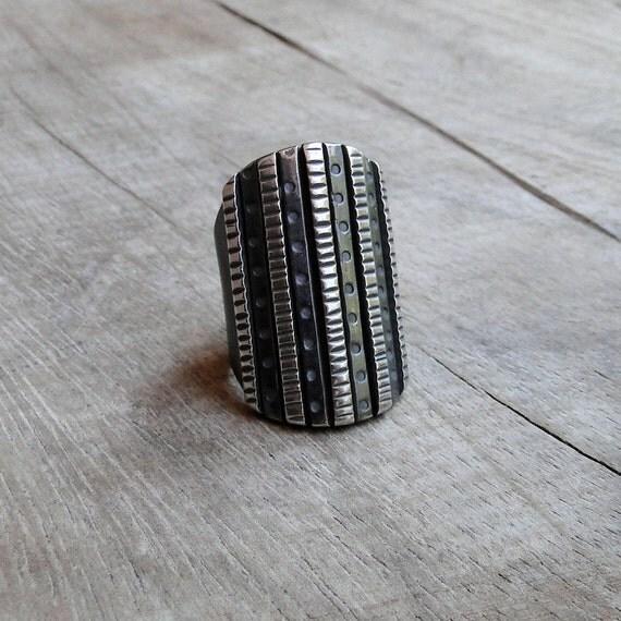 Sterling Silver Skyscraper Ring