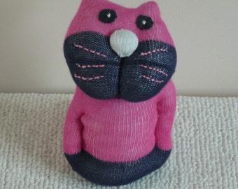 Plush Sock Animal - Martha ,Plush animal,sock animal,sock doll,stuffed animal,sock creature,sock sculpture,animal,sock,uk,cat,kitty,sock cat