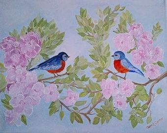 "Painting ""Bluebird Heaven"" 11x14"""