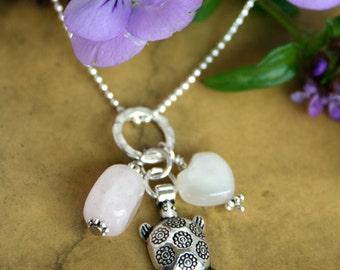Amulet Fertility Necklace, with Fertility Blessing, Infertility Necklace