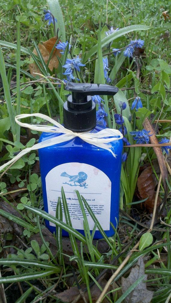 SALE! Lotion Emu oil  Goat Milk ( essential oil of your choice)  SALE !-3 oz  or 9 oz option