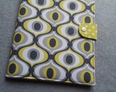 iPad 1,2,3,4 cover, iPad Air cover, Nook HD plus, Kindle DX, Kindle Fire 8.9 Yellow and Gray Feeling Groovy Custom order