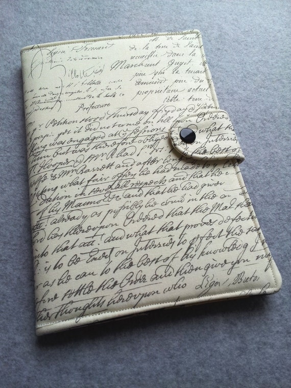 Nexus 7 , Kindle Fire HD Cover, Kindle cover, Nook HD, eReader Cover, Book Style, Old Script Custom order
