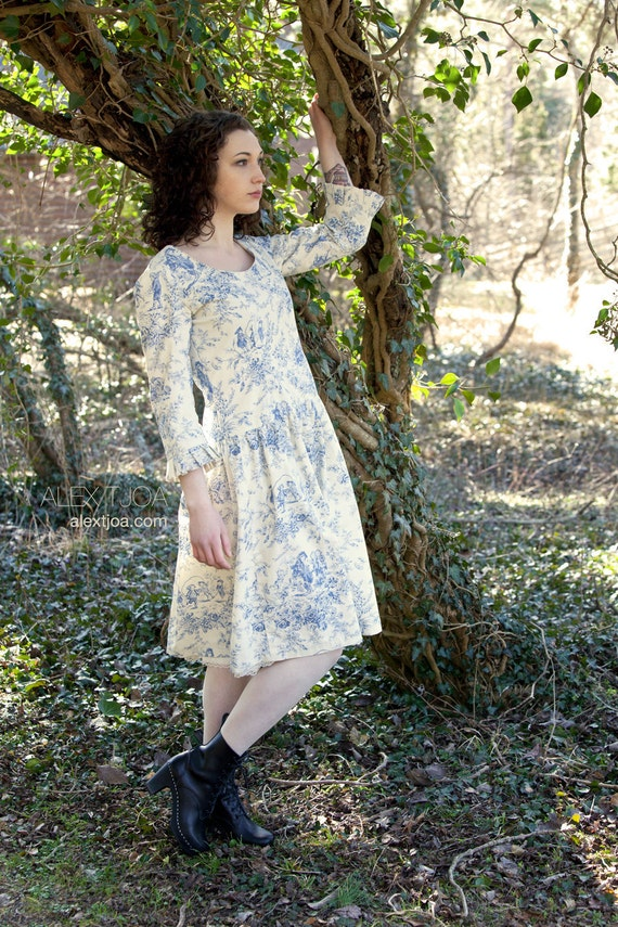 Dress Bohème from Blue French Toile de Jouy.