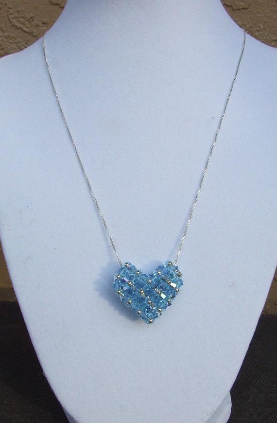 Light Blue Heart Necklace