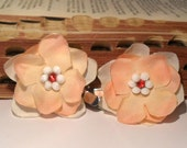 Pastel Hair Clips, Peach and White Bobby Pins