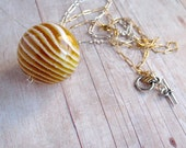 Vintage Glitter Ball Necklace Holiday Jewelry