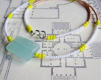 Alabaster Necklace Celadon Mint Green
