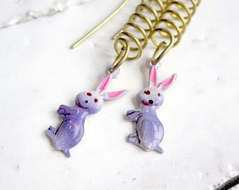 Bunny Earrings Easter Basket Rabbit Jewelry