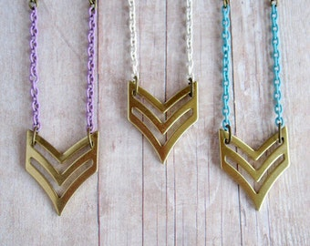 Chevron Necklace Military Necklace