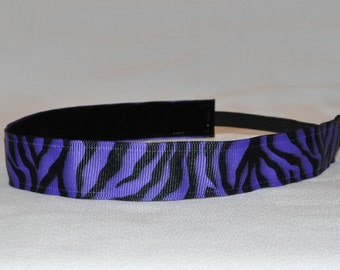 CLEARANCE Zebra Non Slip Headband - Purple | Team Headband | Workout Headband | Yoga Headband | Running Headband | FREE SHIPPING Offer