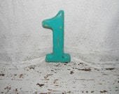 Wooden Number 1 One Distressed Numbers Birthday Photo Props