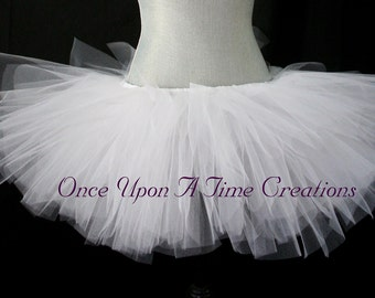 Ready To Ship - Pure White Tutu - All Sizes - Newborn 3 6 9 12 18 Months 2T 3T 4t 5t 6 7 8 10 12 Adult - Photo Prop, Halloween Costume