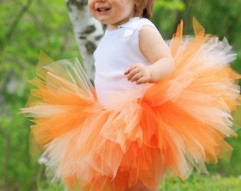 Orange Dream Pixie Tutu - All Sizes - Girls Newborn 3 6 9 12 18 Months 2T 3T 4T 5T 6 7 8 10 12 Adult - Peach Photo Prop, Halloween Costume