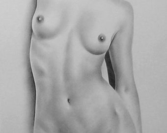 Female Nude Art, Order Nude Sketch, Nude Drawing, Nude Sketch, Pencil Sketch, Erotic Drawing, Body Nude Art, Classical, Made to Order (2/20)