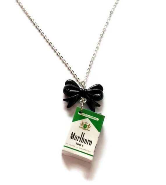 Marlboro Cigarette Necklace, Kitsch Smoking Necklace