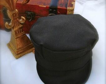 black conductor hats for boys, black train hat for boys, thomas the tank train conductor hat