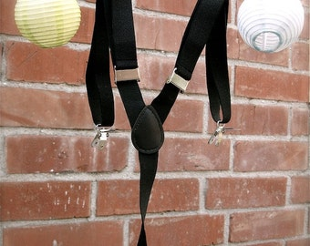 black suspenders for little boys,  adjustable suspenders, QTY 1