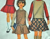 DISCOUNTED** 1960's Simplicity Girl's Jumper and Blouse Pattern - Chest 28