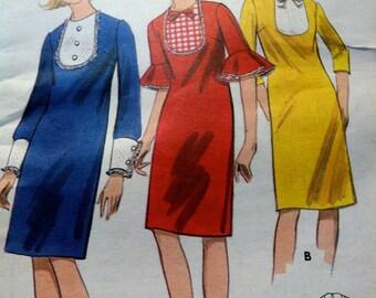 1960's Dress Pattern (Very Mod) - Bust 34 - UNCUT - no. 3990