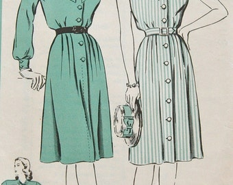 1940's Hollywood Dress Pattern - Bust 32 - No. 1577