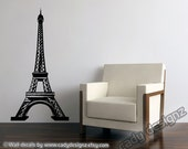 Eiffel Tower Vinyl Wall Decal - 5ft - Home Decor - Baby Nursery Wall Decals - Paris Vintage Theme Wall Decor - Nursery Decor