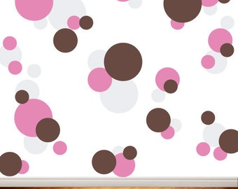 Polka Dots Vinyl Wall Decals - Childrens Decor - Nursery Wall Decals - Kids Room Decor - Bubble Decals - Circles - Boys and Girls - 54ea