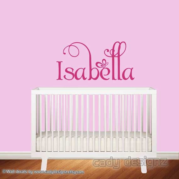 Personalized girls monogram childrens decor by studio378decals for Custom wall mural decals