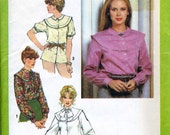 "Simplicity 9139: Blouse pattern with yoke band, full sleeves. Bust 32 1/2"", size 10."