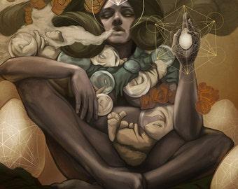 YO MAMMA - concept art fine art print MIDSIZE