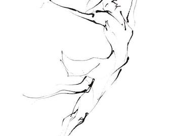 Dance Drawing Series Print - Ballerina III (A4)