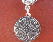 Pewter Button Necklace from Norway Mia