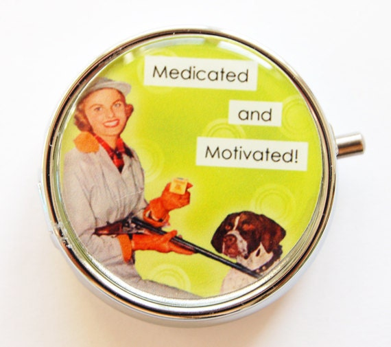 Funny Pill Box, Pill Case, Pill Container, case, Green, humor, funny ...