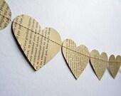 Paper hearts bunting banner Valentine decor