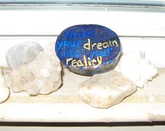 Dream Reality Box papier mache trinket treasure box acrylic signed by artist  free shipping