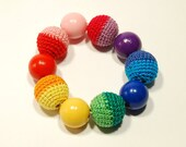 Ecological wooden baby beads (age 5 months - 1 year )