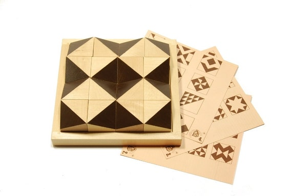 Dimensional wooden puzzle - A play with a shadow ( age 6 - 9 )