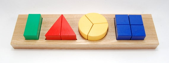 Developing puzzle - geometric shapes (age 3-4)