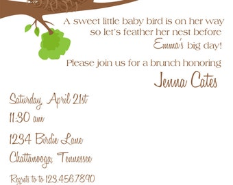 feather the nest shower invitation