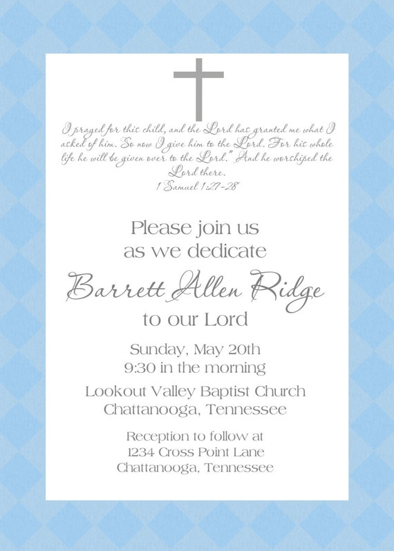 baby dedication invitation by SweetAppleberry on Etsy