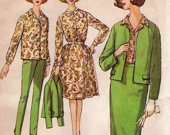 Simplicity 4548 sewing pattern // weekend wardrobe jacket blouse pants skirts