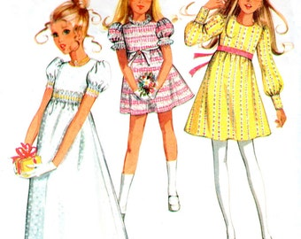 1970s McCall's 2781 sewing pattern // Girls' Dress in Three Versions