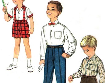 1950s Simplicity 3215 sewing pattern // Boys' Shirt and Pants in Two Lengths