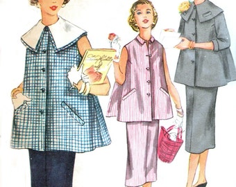 Simplicity 1026 sewing pattern // Two Piece Maternity Suit Dress