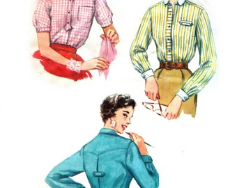 Simplicity 4813 sewing pattern // Misses' Shirt